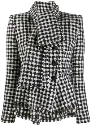 Dolce & Gabbana Dogtooth Fitted Jacket