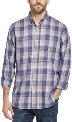 Weatherproof Vintage Men Button-Down Plaid Shirt
