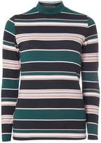 Dorothy Perkins Green stripe high neck top