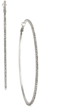 Thalia Sodi Silver-Tone Pave Large Extra Large Hoop Earrings, Created for Macy's