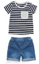 Ladouby boys shirts+shorts set children's outfits baby clothes 3-8 years