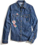Nowadays Megan & Liz Tween Embroidered Denim Top, Big Girls (7-16) & Juniors (1-5)