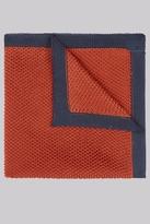 Moss Bros Rust Knit Pocket Square