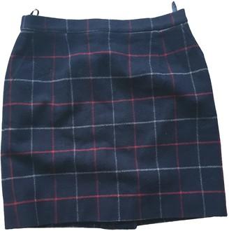 Burberry Blue Wool Skirt for Women Vintage