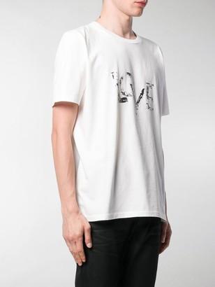 Saint Laurent Love foil-print T-shirt