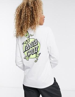 Santa Cruz Monarch Glow Dot long sleeve t-shirt in white