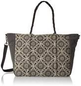 Volcom Cant Be Tamed Tote Handtasche Damen, Women's Handbag, Schwarz (), 5x50x30 cm (B x H T)
