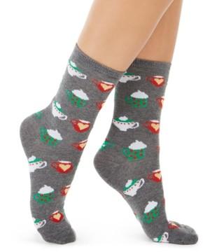 Charter Club Women's Hot Cocoa Crew Socks, Created for Macy's