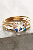 Anthropologie Serene Sapphire Ring Set