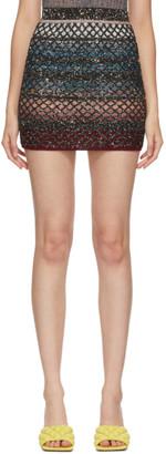 Missoni Multicolor Knit Sequin Miniskirt