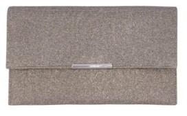 La Regale Metallic Animal Sparkle Jacquard Double Pocket Envelope Clutch