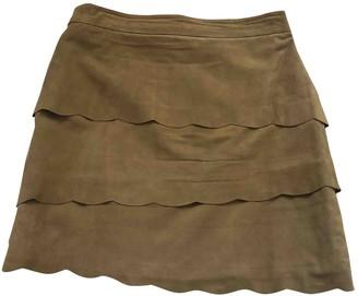 Maje Beige Suede Skirt for Women