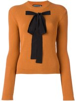 Rochas bow front ribbed jumper - women - Acrylic/Polyester/Wool - 42
