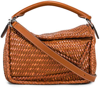 Loewe Puzzle Woven Small Bag in Tan | FWRD