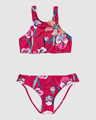 Roxy Girls 8-14 Little Wanderer Crop Top Bikini Set