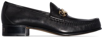 Gucci Logo Leather Loafers