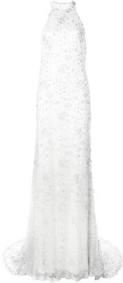 Tadashi Shoji lace gown with train
