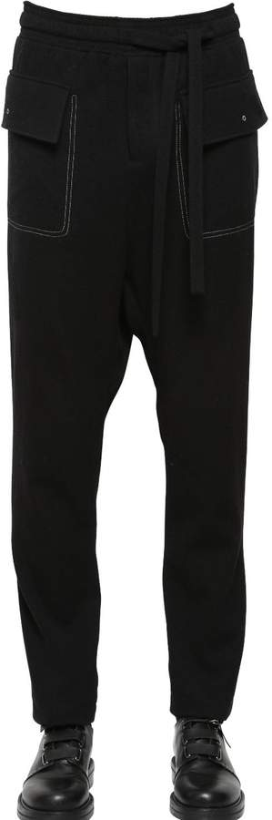 Damir Doma Wool Pants With Contrasting Color Seams