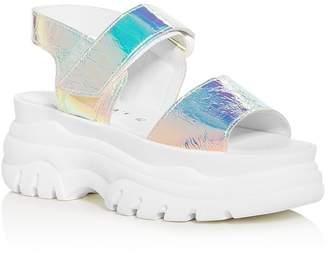 Joshua Sanders Women's Spice Light Hologram Slingback Platform Sandals