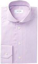 Eton Stripe Slim Fit Dress Shirt