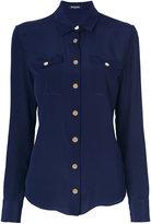 Balmain classic fitted shirt - women - Silk - 38