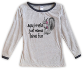 Urban Smalls Light Heather Gray 'Squirrels Just...' Boatneck Top - Toddler & Girls