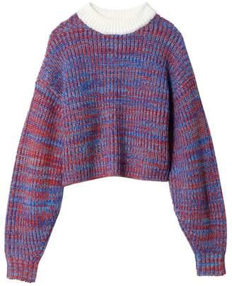 Tibi Marled Wool Sweater