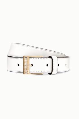 Prada Leather Belt - White