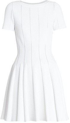 Alaia Pique Fit-&-Flare Dress