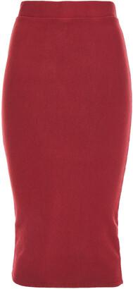 Stateside Modal-blend Fleece Midi Skirt
