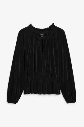 Monki Pleated blouse