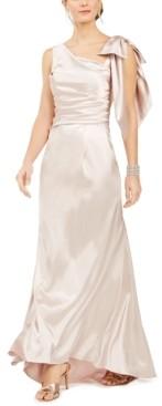 Brinker & Eliza Draped Satin Gown