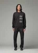 Rick Owens Men's Crew T-Shirt in Black/Pearl Size Medium