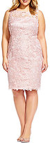 Adrianna Papell Plus Sequin Lace Sheath Dress