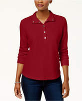 Karen Scott Petite Snap-Collar Top, Created for Macy's