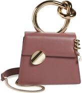 Benedetta Bruzziches Small Brigitta Pierced Calfskin Leather Top Handle Satchel