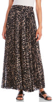 Haute Hippie Printed Pleated Maxi Skirt