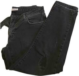 Pierre Balmain Grey Cotton Jeans for Women