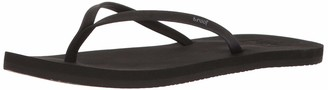 Reef Women's Sandals Bliss Nights | Vegan Leather Fashion Flip Flops for Women with Soft Cushion Footbed | Black | Size 5