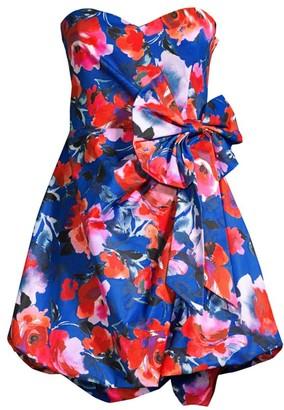 Parker Black Chantelle Floral-Print Bow Dress
