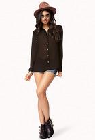 Forever 21 Studded Georgette Shirt