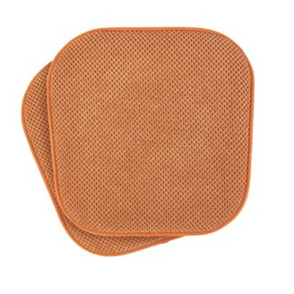 Winston Porter Ultra Comfort Non-Slip Indoor/Outdoor Dining Chair Cushion Fabric: Pumpkin Spice
