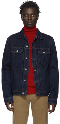 Officine Generale Indigo Raw Denim Liam Jacket