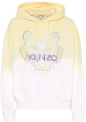 Kenzo Tiger logo embroidered cotton hoodie