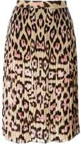Givenchy leopard print skirt