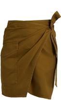Etoile Isabel Marant Olga cotton-gabardine wrap mini skirt