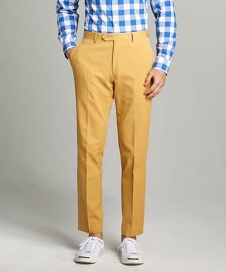 Todd Snyder Sutton Seersucker Suit Trouser in Mustard