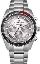 Ben Sherman Men's 'The Ronnie Chronograph' Quartz Stainless Steel Casual Watch, Color:Silver-Toned (Model: WBS108SM)
