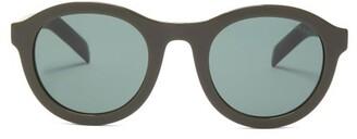 Prada Round Acetate Sunglasses - Green