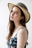 Ecote Geo Straw Packable Boater Hat